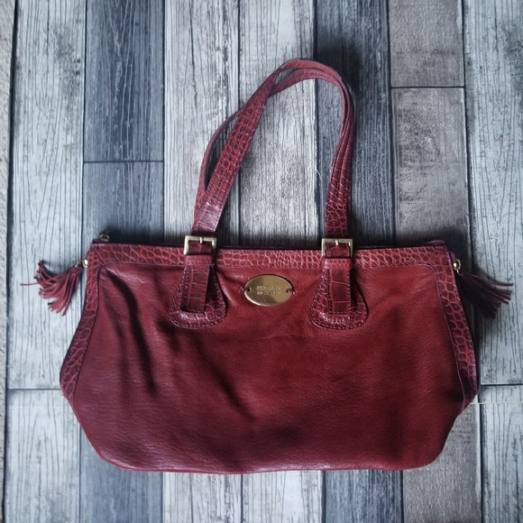 highly coveted range of cost charm top design HIDESIGN red leather bag